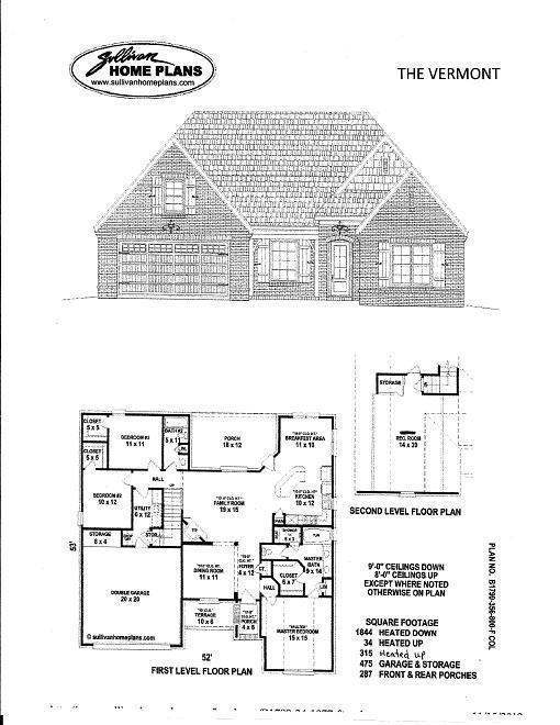 The vermont floor plans grant properties for Vermont home designs